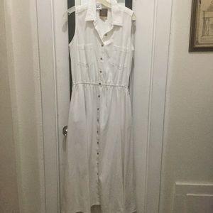 Vintage AMI Sleeveless Front Button Maxi Dress